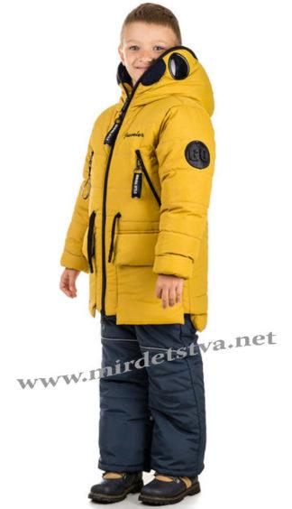 Зимняя модная куртка с очками на мальчика Traveler Antmen