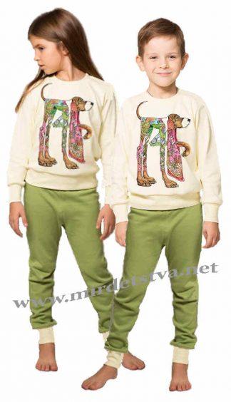 Детская утепленная пижама Овен Плуто 18ПМ-281/199-3ф