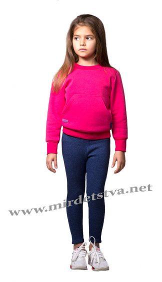 Малиновый джемпер с начесом для девочки Овен Дорет 18Д-427-2