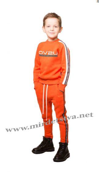 Оранжевые детские брюки с начесом Овен Донато 18Ш-246-6