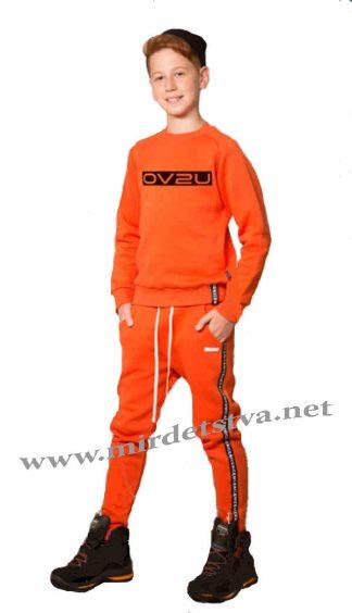 Оранжевый детский джемпер с начесом Овен Хакан 18Д-148-18