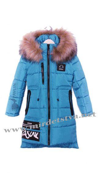Теплое детское зимнее пальто для девочек Pavlin Music
