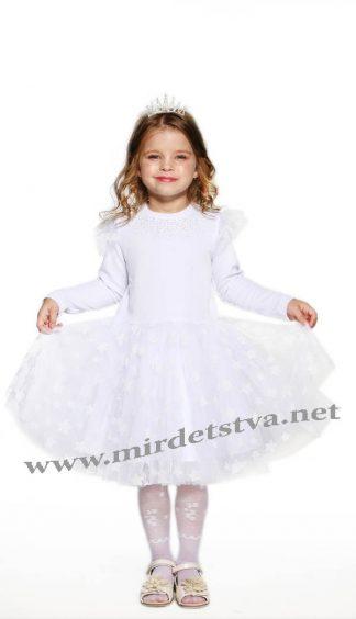 Белое нарядное платье на девочку Lukas 8541