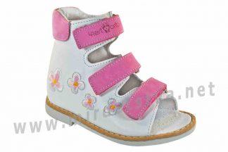 Белые сандалии на девочку ортопедия 4Rest Orto 06-124