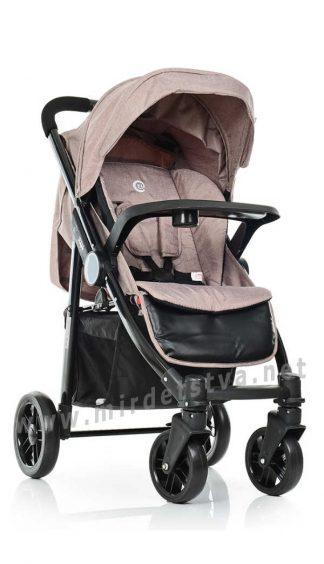 Бежевая коляска детская EL CAMINO ME 1027L Tempo Latte