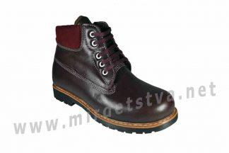Бордовые ортопедические ботинки на шнурках 4Rest Orto 06-592