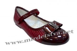 Бордовые туфли для девочек Bi&Ki B2400-B