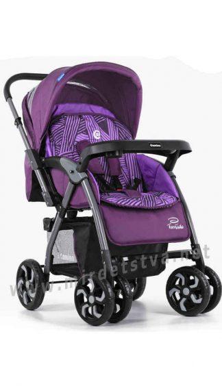 Фиолетовая коляска детская EL CAMINO ME 1007-9 Tornado