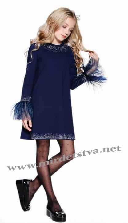 Нарядное теплое платье для девочки Lukas 8529