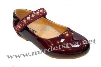 Нарядные бордовые туфли для девочки СКАЗКА R201333621