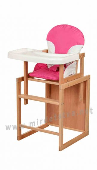 Розовый стульчик для кормления Bambi CH-L2