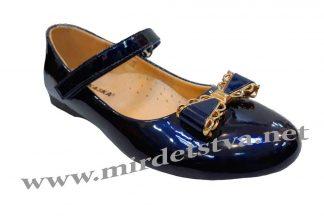 Синие лаковые туфли на девочку СКАЗКА R323034122