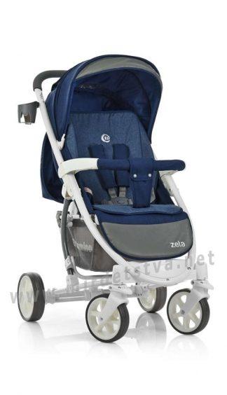 Синяя коляска детская EL CAMINO ME 1011L Zeta Deep Blue