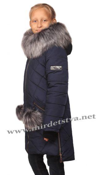 Удлиненная зимняя куртка на девочку Nestta Dasha