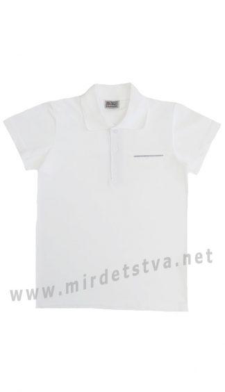 Белая детская футболка-поло CEGISA 7172