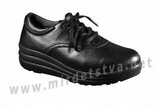 Черные женские ортопедические туфли на шнурках 4Rest Orto 17-016