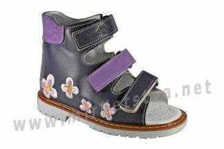 Кожаные фиолетовые босоножки на девочку ортопедия 4Rest Orto 06-144