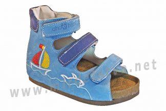 Кожаные сандали на пробковой подошве ортопедия 4Rest Orto 07-007