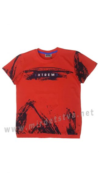 Красивая красная подростковая футболка CEGISA 7065