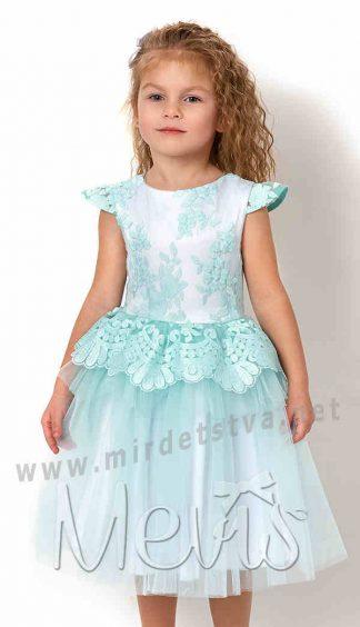 Нарядное платье с кружевом Mevis 2627-01