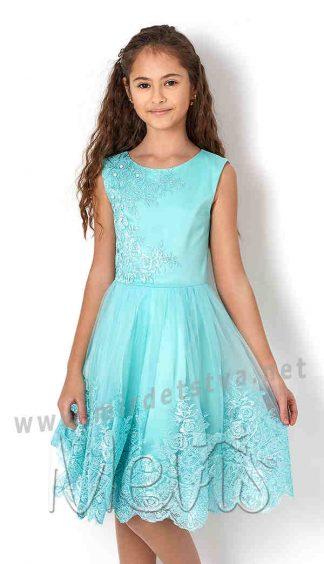 Платье нарядное с гипюром на девочку Mevis 2665-02