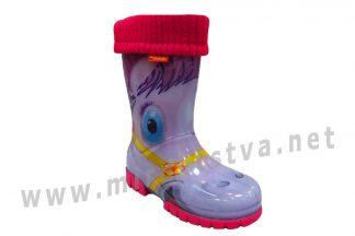 Резиновые сапоги для девочек Demar Twister Lux Print 0039