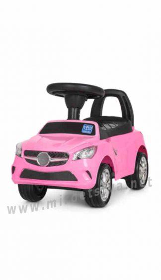 Розовая детская машинка толокар Bambi M 3147C (MP3)-8