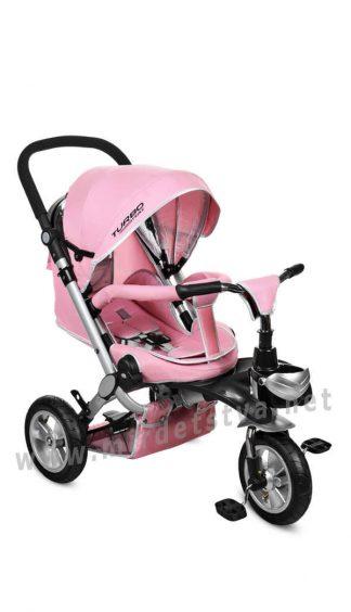 Розовый складной велосипед Turbo Trike M AL3645A-10