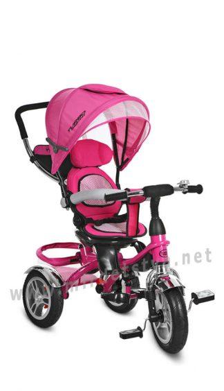 Розовый велосипед трехколесный Turbo Trike M 3114-6A