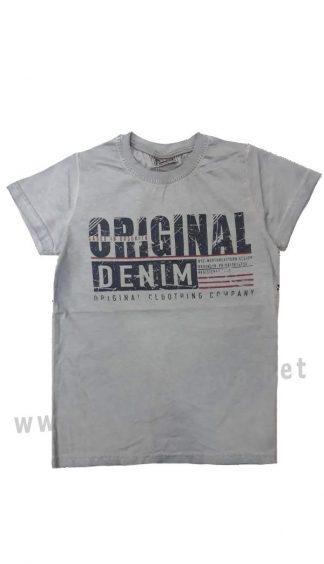 Серая футболка с принтом на мальчика CEGISA 6111