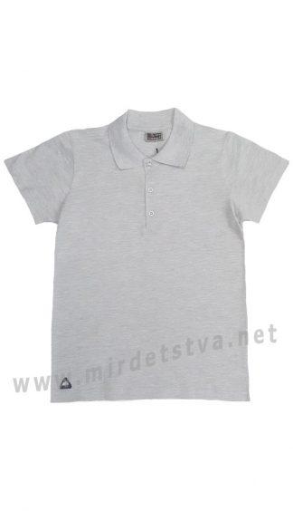 Серая качественная футболка поло на подростка CEGISA 7171