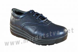 Синие женские туфли на шнурках ортопедия 4Rest Orto 17-015
