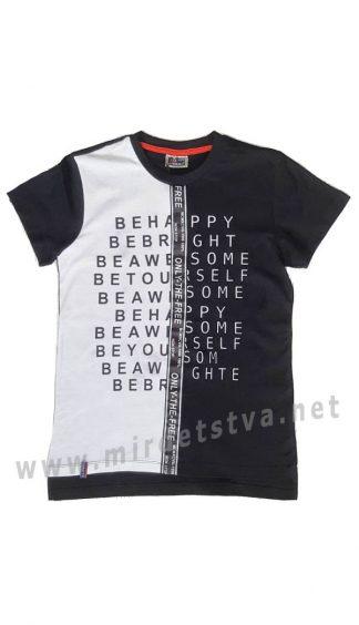 Стильная черно-белая футболка на подростка CEGISA 7155