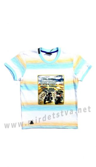 Светлая детская футболка с мотоциклами CEGISA 5925