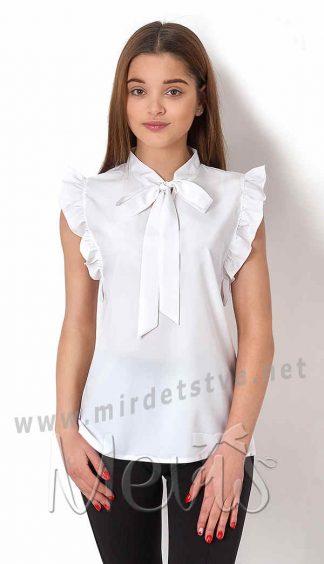 Белая блузка для девочки подростка Mevis 2670-01