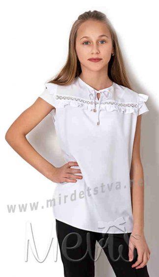 Белая блузка для девочки подростка Mevis 2681-01