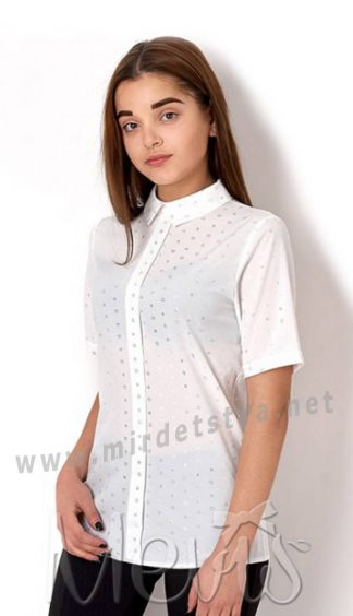 Белая нарядная блузка подростковая Mevis 2660-03