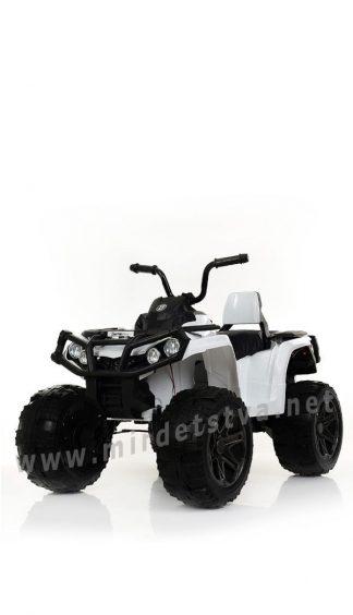 Белый квадроцикл с большими колесами Bambi M 3999EBLR-1