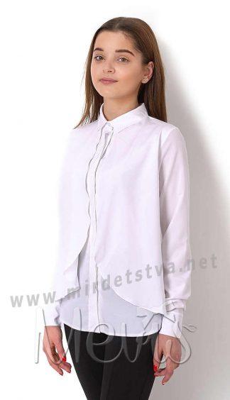 Блуза с отложным воротником для девочки Mevis 2689-03