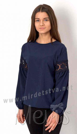Блузка для девочки с цельнокроеным рукавом Mevis 2754-02