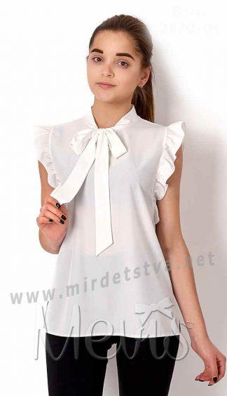 Блузка со стойкой воротником Mevis 2670-04