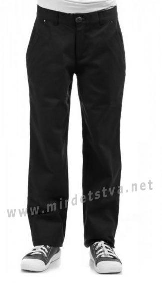 Черные хлопковые брюки для мальчика KidsCouture 1711602193
