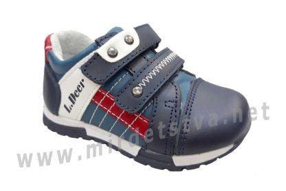 Детские кожаные кроссовки на мальчика B&G LD180-424