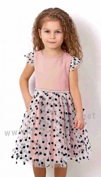 Детское нарядное платье в горошек Mevis 2833-03