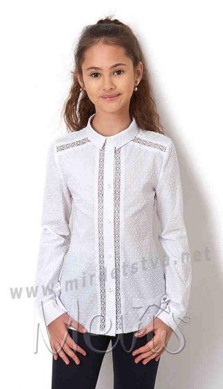 Хлопковая блуза с длинным рукавом Mevis 2834-01