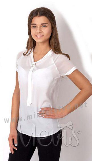 Красивая белая подростковая блуза Mevis 2669-02