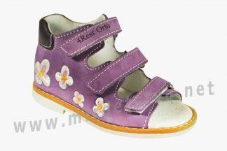 Красивые фиолетовые ортопедические босоножки 4Rest Orto 06-109