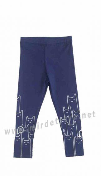 Красивые хлопковые синие лосины на девочку Lovetti 5880