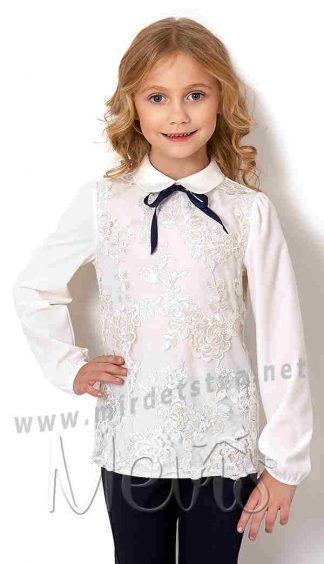 Нарядная блуза с длинным рукавом Mevis 2755-01