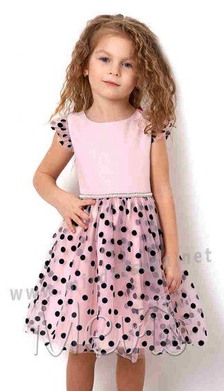 Нарядное платье в горошек Mevis 2833-01